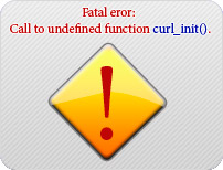 Fatal error: Call to undefined function curl_init()