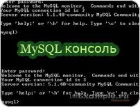MySQL консоль