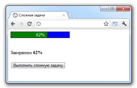 php полоса загрузки progressbar