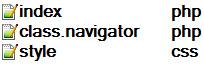 Скрипт PHP навигации
