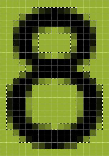 подсчет пикселей для скрипта распознавания капчи на php