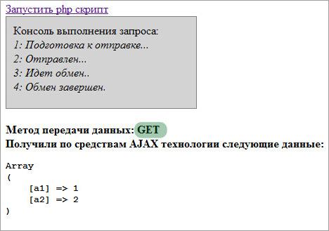 AJAX примеры GET запрос
