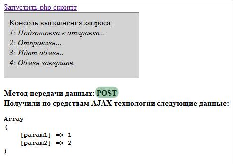 AJAX примеры POST запрос
