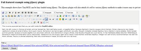 WYSIWYG html редактор TinyMCE